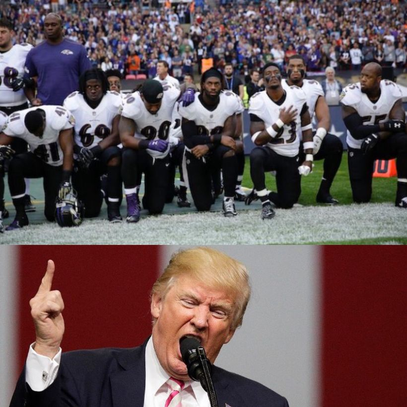 """Trump wants NFL players who protest to be fired """"Get that son of a bitch off the field."""""""