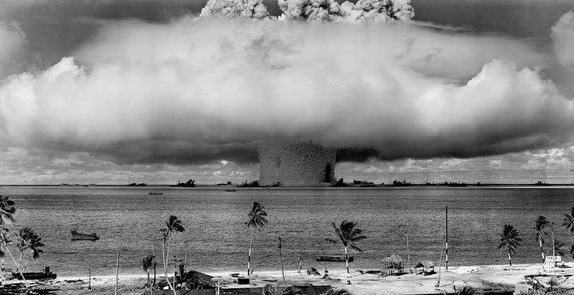 Nuclear testing at Bikini Atoll, 1946.