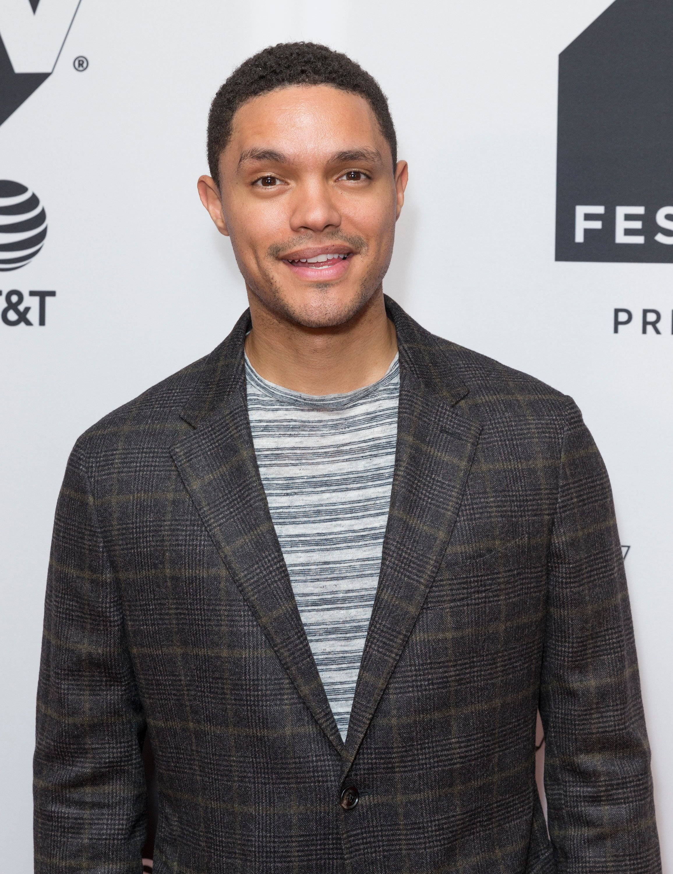 Trevor Noah attends Conversation with Trevor Noah & the writers of the Daily Show during Tribeca TV festival at Cin
