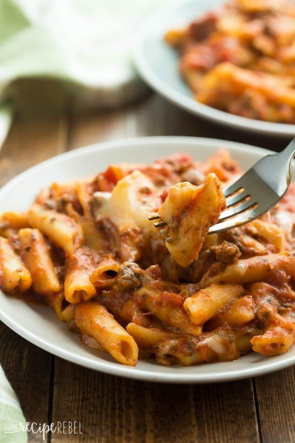 "<strong>Get the <a href=""https://www.thereciperebel.com/slow-cooker-baked-ziti/"" target=""_blank"">Slow Cooker Baked Ziti recip"