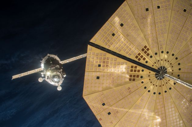Tim Peake's Soyuz TMA-19M spacecraft manually docks with the International Space Station (ISS) December...