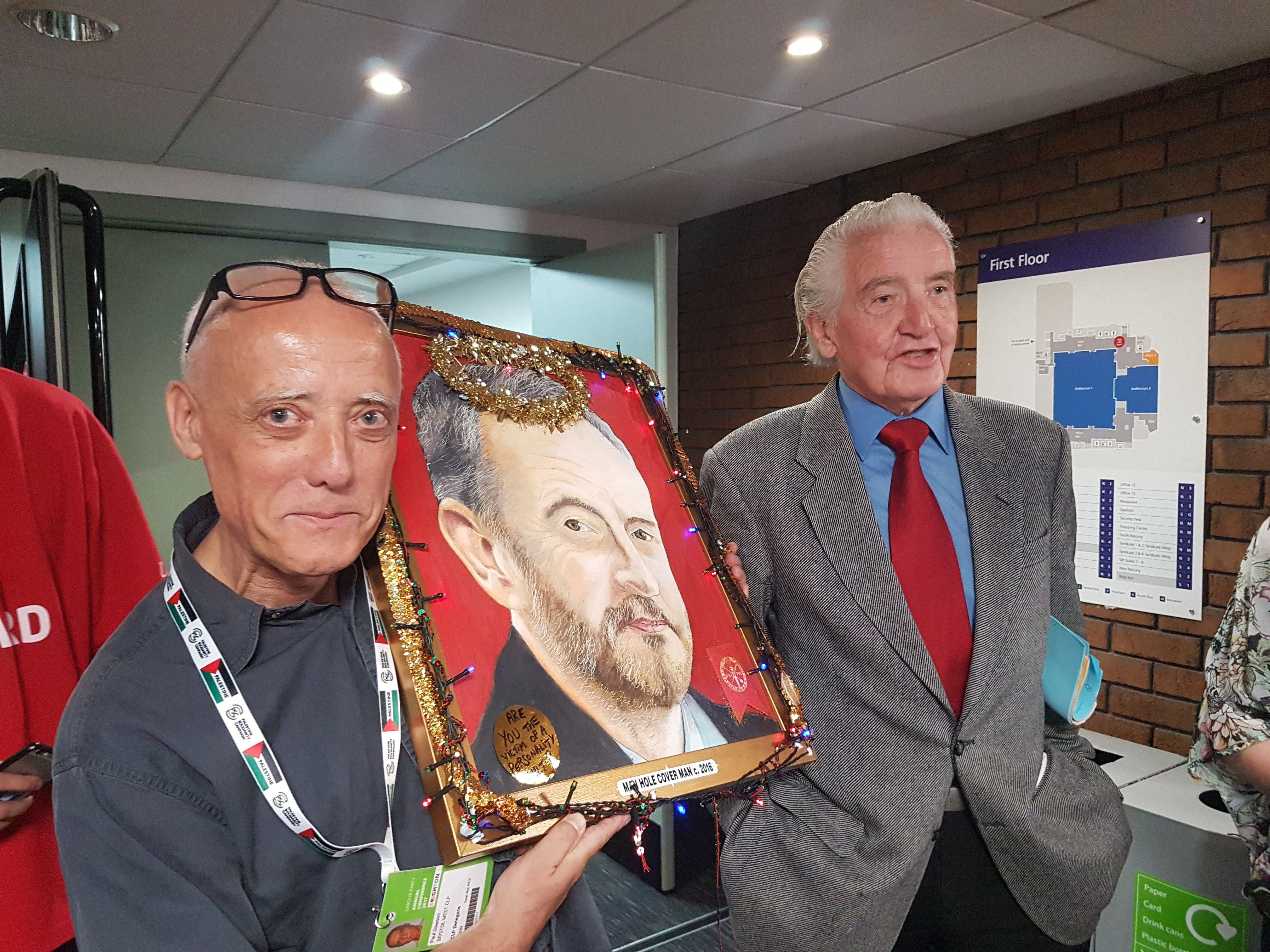 Labour Member Explains Why He Took A Portrait Of Jeremy Corbyn Adorned With Fairy Lights To