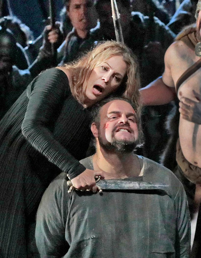 Sondra Radvanovsky and Joseph Calleja in the Met's new production of <em>Norma.</em>