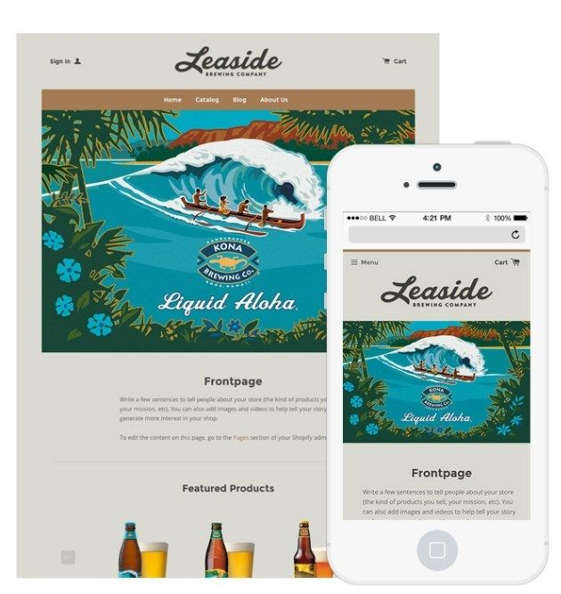 "<a rel=""nofollow"" href=""https://konabrewingco.com/"" target=""_blank"">Kona Brewing Co.</a> provides a responsive web design whi"