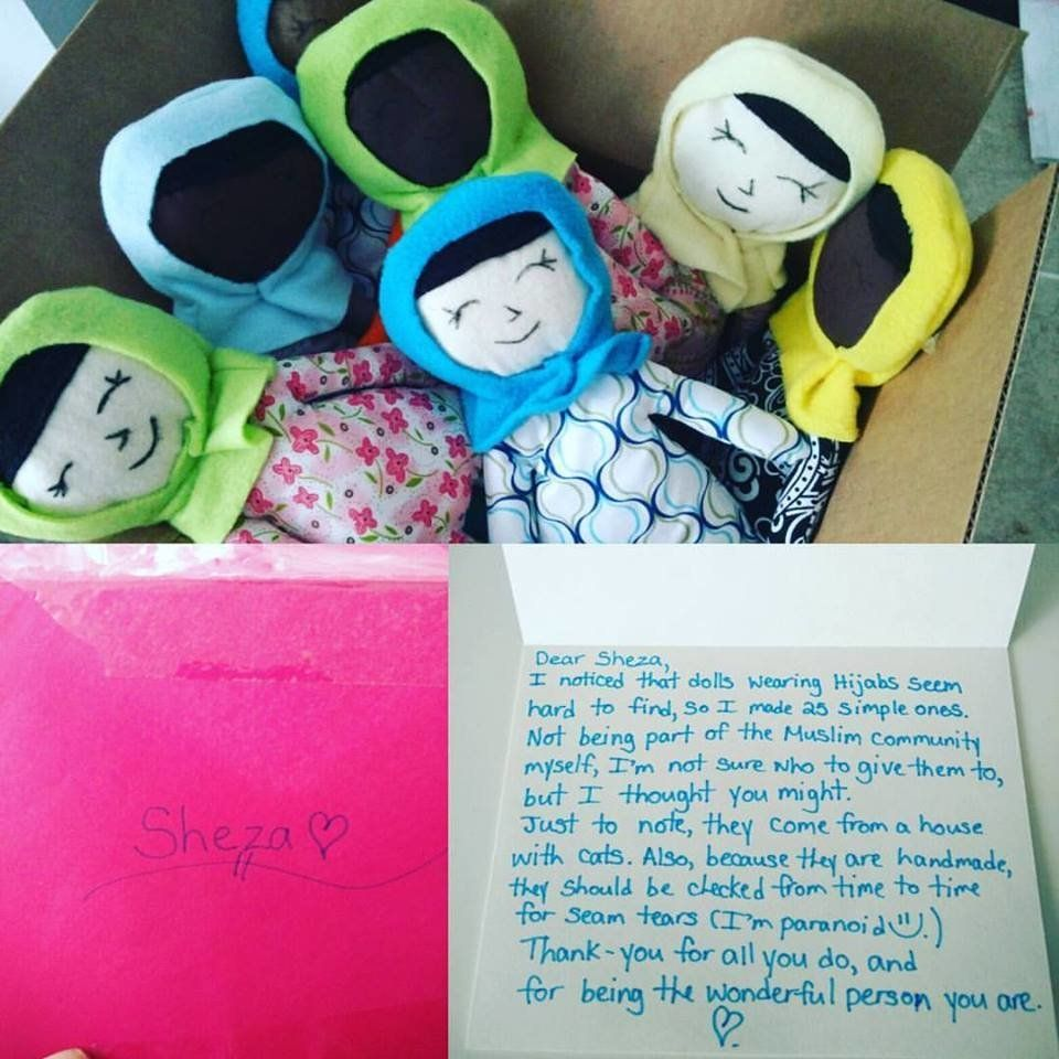 Anonymous Neighbour Leaves 25 Hijabi Dolls Outside Mum's