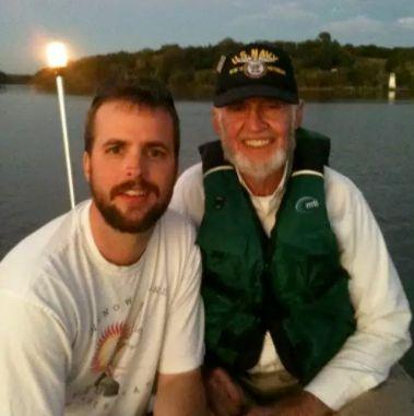 Brennan Gilmore with his grandpa,John Middlemas.