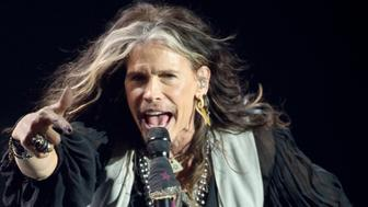 OSLO, NORWAY - DECEMBER 11: Steven Tyler performs on stage during the Nobel Peace Prize concert at Oslo Spektrum. Tonight Nobel Peace Concert is hosted by Queen Latifah to honour this year Nobel Peace Prize winner Kailash Satyarthi of India and Malala Yousafzai of Pakistan  on December 11, 2014 in Oslo, Norway. (Photo by Nigel Waldron/WireImage)