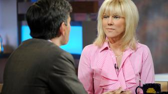 GOOD MORNING AMERICA - Rielle Hunter talks about her relaionship with former Senator and presidential candidate John Edwards, on GOOD MORNING AMERICA, 6/26/12, airing on the ABC Television Network.   (Photo by Ida Mae Astute/ABC via Getty Images) GEORGE STEPHANOPOULOS, RIELLE HUNTER