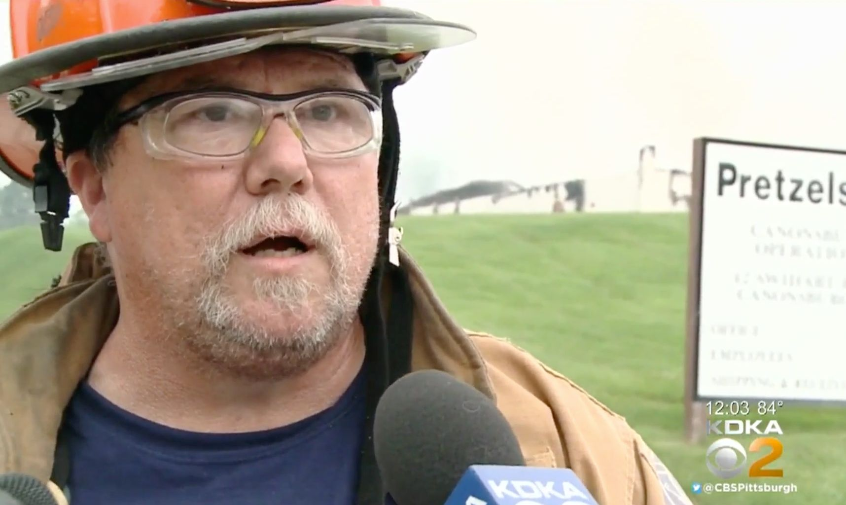 Volunteer Fire Chief Paul Smith of the Muse Fire Department, shown during an earlier interview, apologized and then resigned&