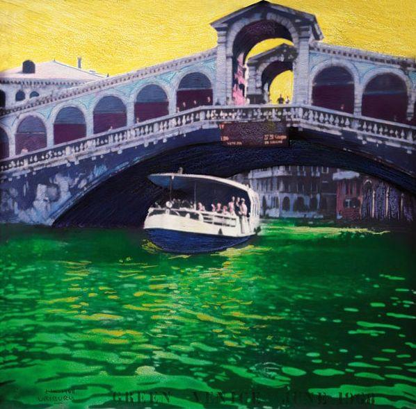 Nicolas Garcia Uriburu, <em>Green Venice</em> (1968).