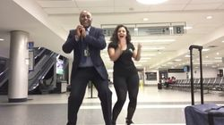 Woman Turns Her Missed Flight Into An Airport Staff Dance