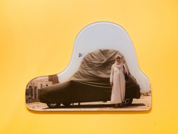"Meriem Bennani, installation view of ""Siham & Hafida,"" 2017."