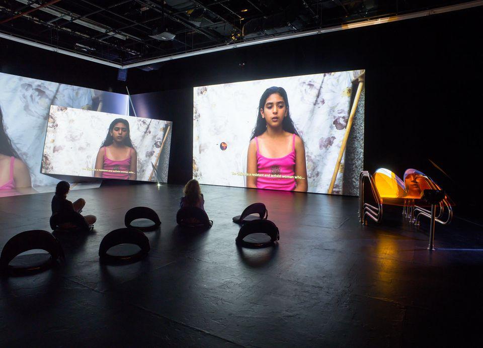 Meriem Bennani, installation view of