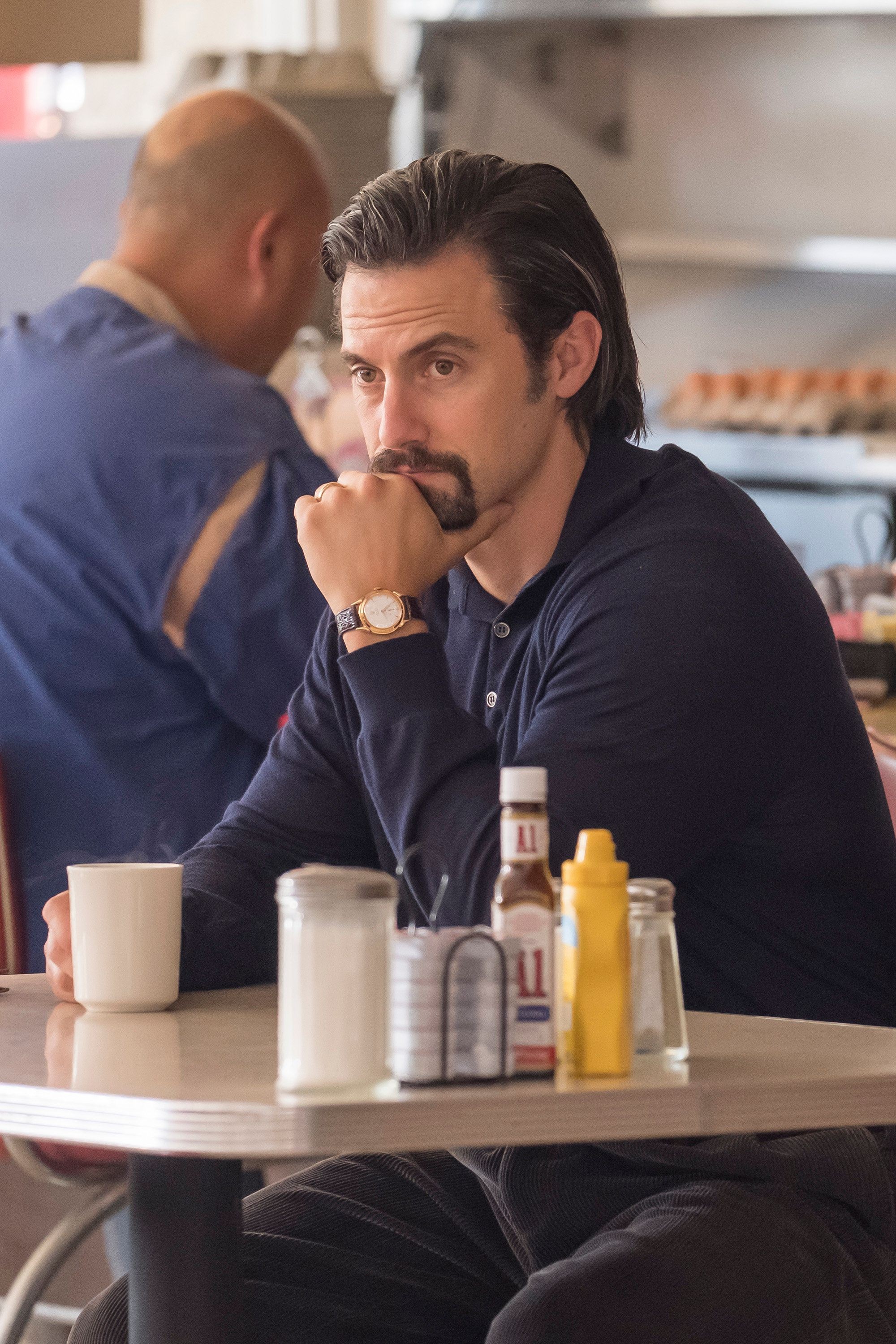 THIS IS US -- 'A Father's Advice' Episode 201 --  Pictured: Milo Ventimiglia as Jack -- (Photo by: Ron Batzdorff/NBC/NBCU Photo Bank via Getty Images)