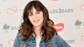 LOS ANGELES, CA - SEPTEMBER 25:  Zooey Deschanel, actress and mother of two, attends the Baby2Baby and Huggies No Baby Unhugged donation event to accept a 2.5 million diaper donation to Baby2Baby and help give back to families in need on September 25, 2017 in Los Angeles, California.  (Photo by Stefanie Keenan/Getty Images for Baby2Baby)