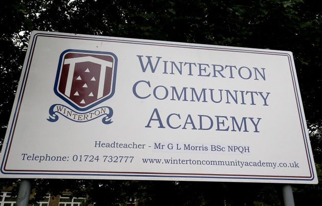 A sign for Winterton Community