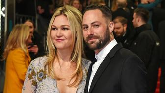 LONDON, ENGLAND - FEBRUARY 12:  Julia Stiles (L) and Preston J.Cook attend the 70th EE British Academy Film Awards (BAFTA) at Royal Albert Hall on February 12, 2017 in London, England.  (Photo by David M. Benett/Dave Benett/Getty Images)