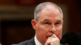 Environmental Protection Agency Administrator Scott Pruitt testifies before a Senate Appropriations Subcommittee on Capitol Hill in Washington, U.S., June 27, 2017. REUTERS/Aaron P. Bernstein