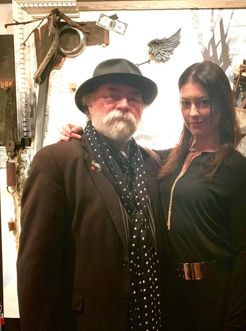 Bianca with artist Stuart Kusher.