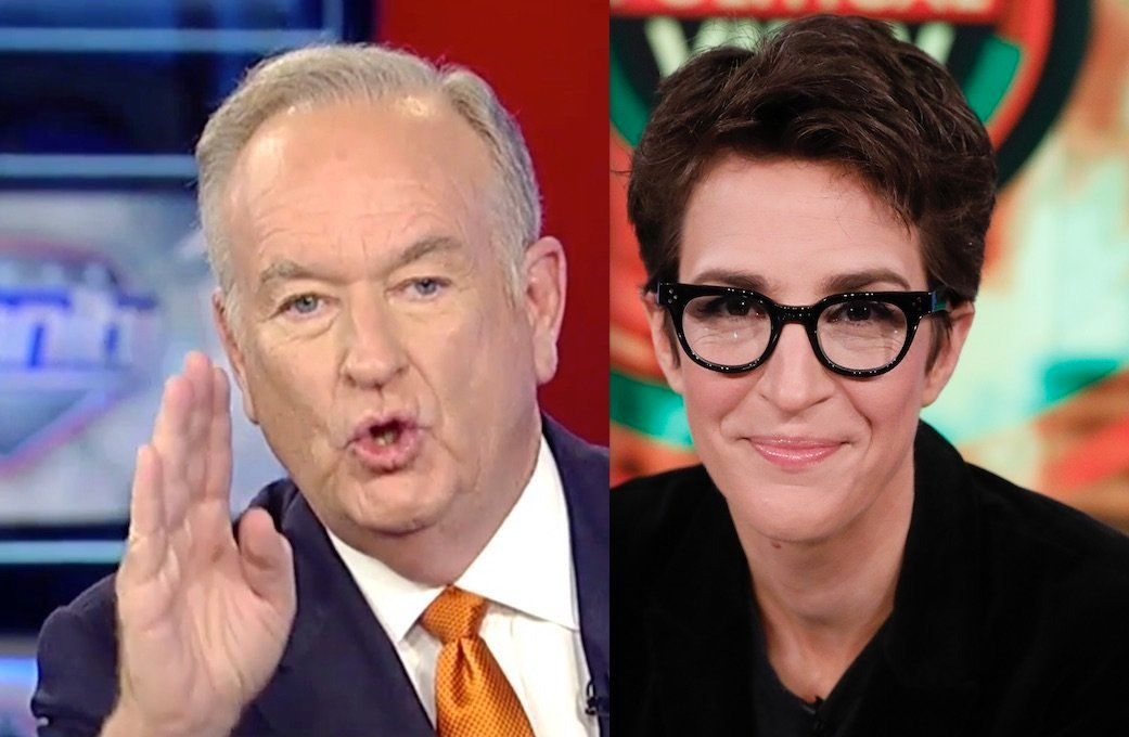 Bill OReilly and Rachel Maddow