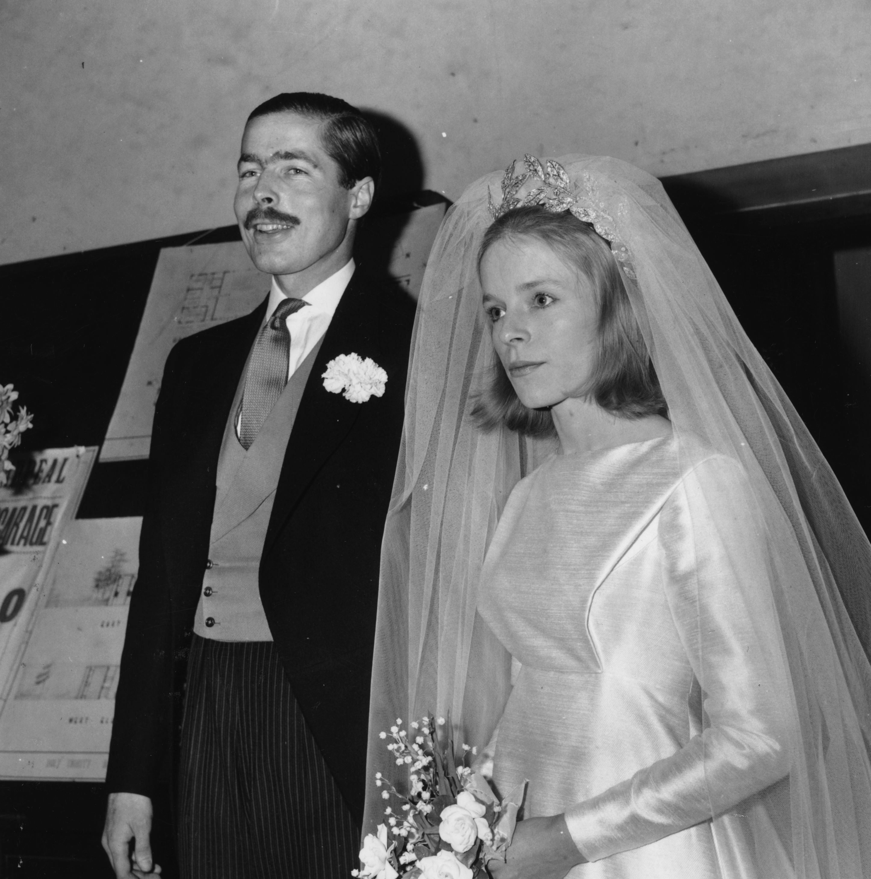 Lord and Lady Lucan on their wedding day in