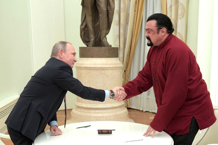 Russia's President Vladimir Putin granted Steven Seagal, whose father was Russian, Russian citizenship in November 2016.