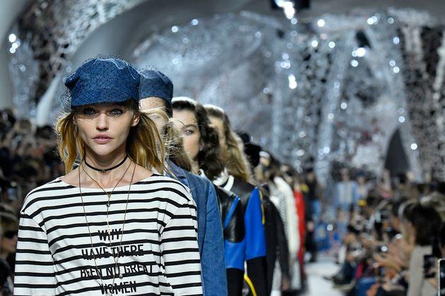 Pivovarova in Dior's newest feminist