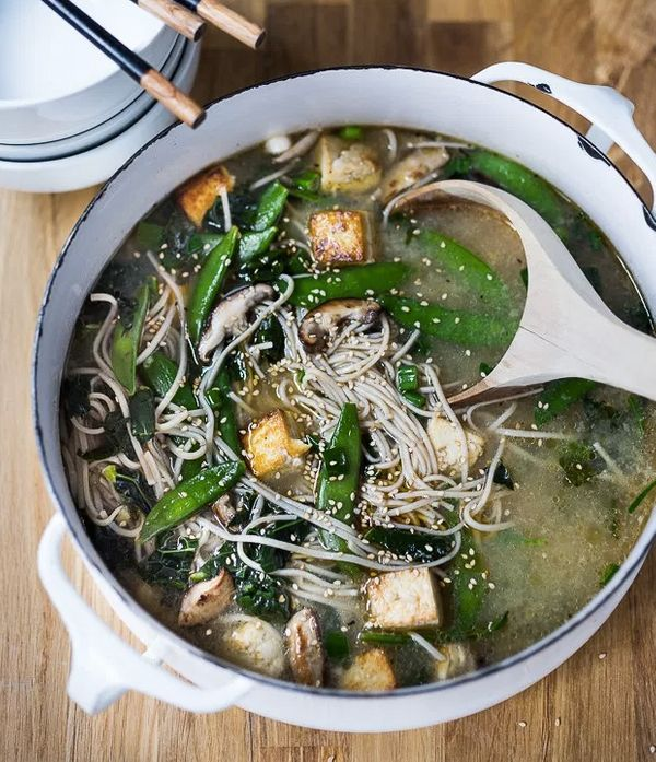 """<strong>Get the <a href=""""http://www.feastingathome.com/sesame-soba-noodle-soup-with-shiitakes-snap-peas-and-tofu/"""" target=""""_b"""
