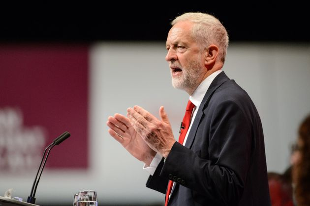 Jeremy Corbyn gives his Leader's Speech during the Labour Party conference in