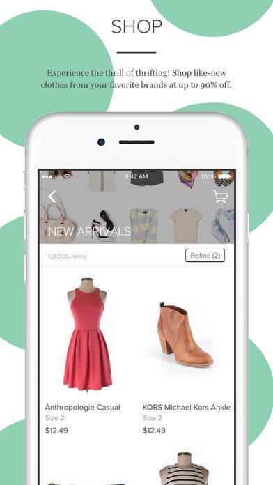 thredUp is not your average consignment shop as it has hundreds of must-have styles showing up every minute. Download it <a h