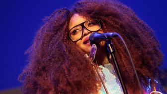 LOS ANGELES, CA - FEBRUARY 09:  Singer Erykah Badu performs onstage during 2017 Essence Black Women in Music at NeueHouse Hollywood on February 9, 2017 in Los Angeles, California.  (Photo by Leon Bennett/Getty Images for Essence)