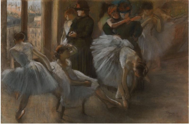 Preparation for the Class by Degas 1877