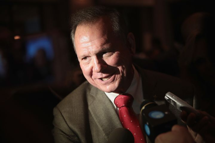 "Republican candidate for the U.S. Senate in Alabama, Roy Moore, <a href=""https://www.huffpost.com/entry/roy-moore-pastor-gay-"