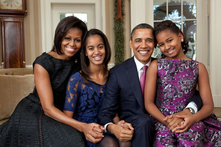 Barack Obama spoke about how he and Michelle talk to Malia and Sasha about being leaders.