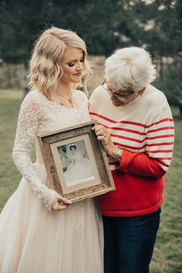 Jordyn Jensen llevó para su boda el mismo vestido que su abuela hace más de 50