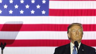 U.S. President Donald Trump pauses while speaking during an event to discuss tax reform at the Indiana Farm Bureau building on the Indiana State Fairgrounds in Indianapolis, Indiana, U.S., on Wednesday, Sept. 27, 2017. Trumpand Republican leaders projected unity -- and won initial approval from conservative groups -- as they announced a long-awaited taxplanthat would represent a major legislative win this year. Photographer: Luke Sharrett/Bloomberg via Getty Images