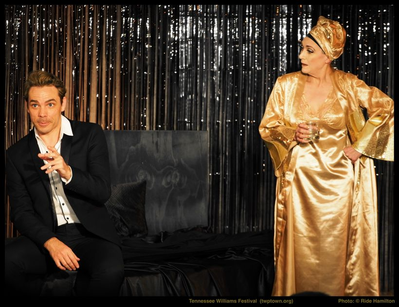 (l to r) Marcel Meyer as Chance and Fiona Ramsay as Princess Kosmonopolis in Abrahamse & Meyer Productions's  <em>Sweet B