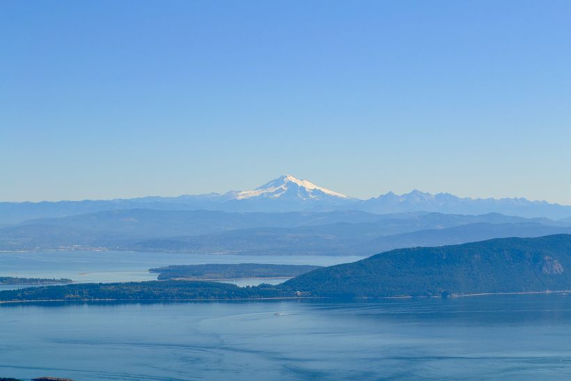 <em>View of Mount Baker from the top of Mount Constitution</em>