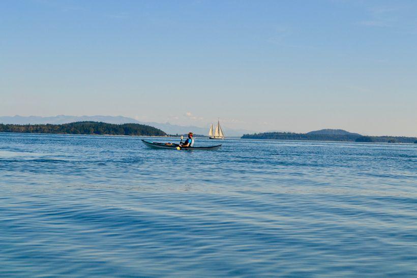 <em>Kayaking at Doe Bay</em>