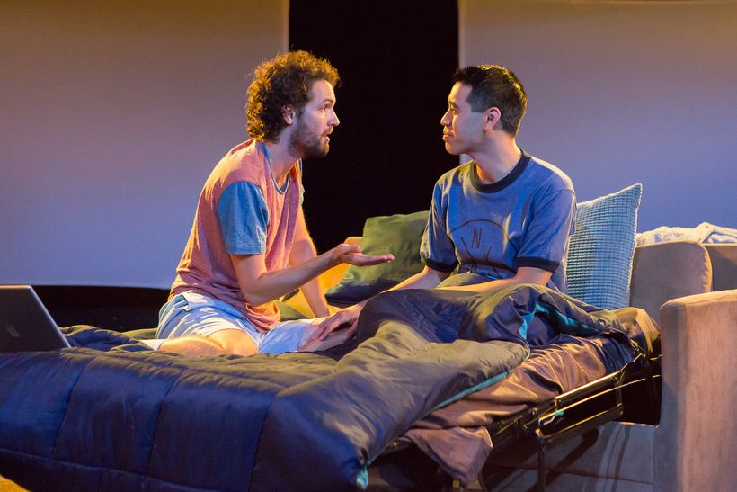 Jacob Perkins and Alton Alburo in <strong>BREEDERS</strong>. Produced by New Light Theater Project