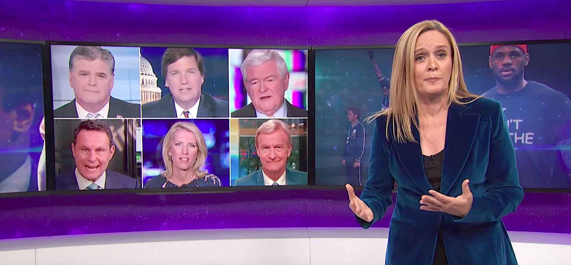 Samantha Bee Skewers Fox News' Hypocrisy Over NFL