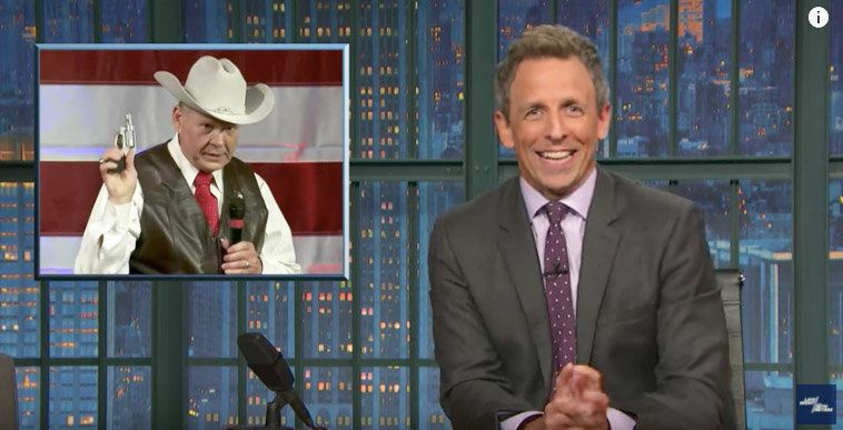 Image result for seth meyers roy moore