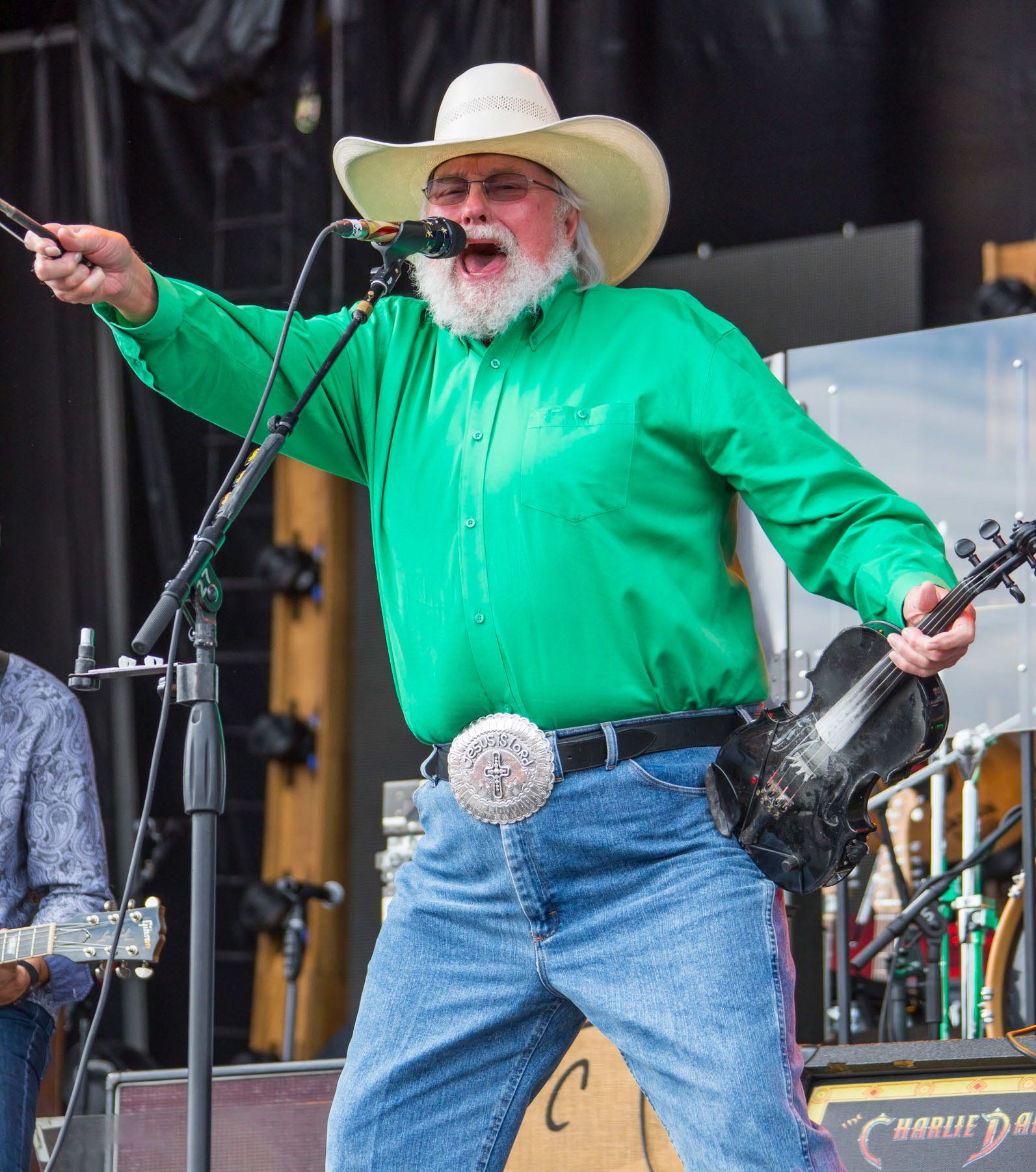 BROOKLYN, MI - JULY 22:  Charlie Daniels performs during day 2 of Faster Horses Festival at Michigan International Speedway on July 22, 2017 in Brooklyn, Michigan.  (Photo by Scott Legato/Getty Images)