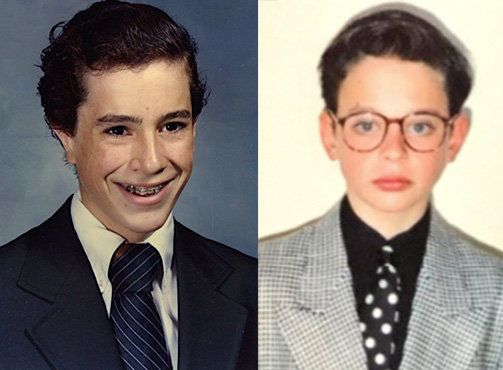 Stephen Colbert, left, and Nick Kroll, right, launched the #puberme campaign last week. They posted these photographs online