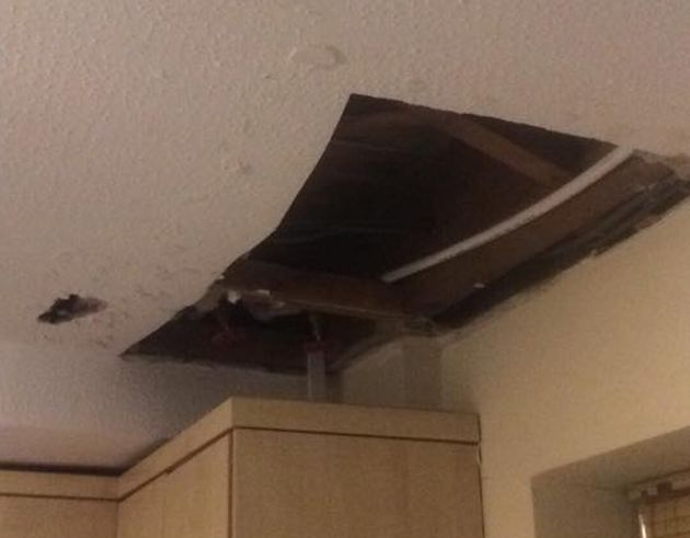 There was a huge hole in the kitchen
