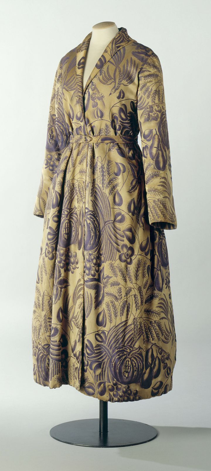 A dressing gown by Paul Poiret on display at the Musee de la Mode de la Ville de Paris at the Palais Galliera in Paris, late 20th century.