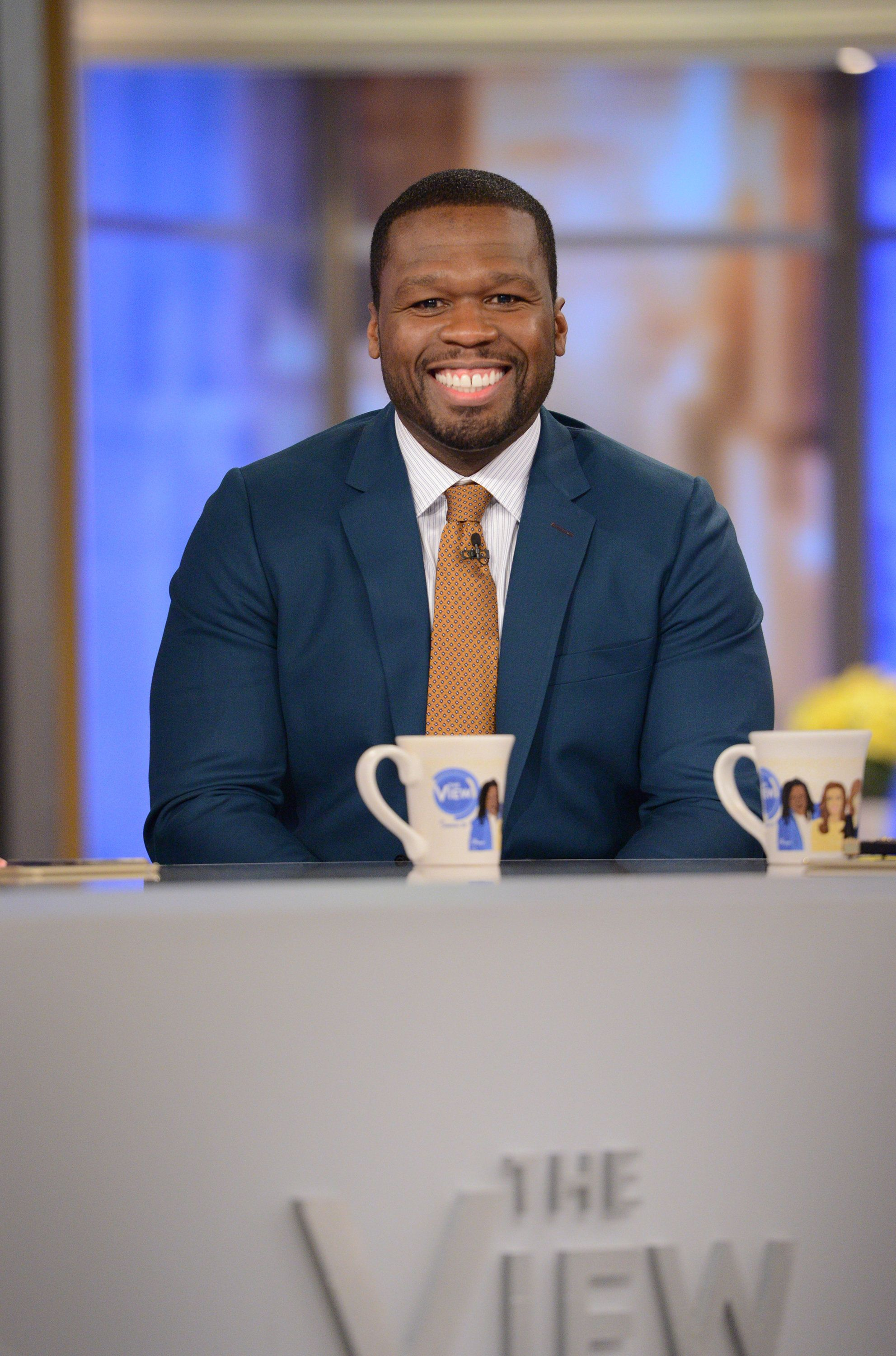 THE VIEW -  Rapper and actor 50 Cent is the guest today, Monday, 9/25/17 on ABC's 'The View.'   'The View' airs Monday-Friday (11:00 am-12:00 pm, ET) on the ABC Television Network.     (Photo by Lorenzo Bevilaqua/ABC via Getty Images)  50 CENT