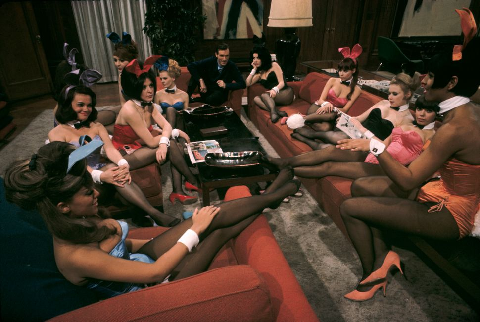 "Burt Glinn, ""Playboy founder, Hugh Hefner, at his mansion,"" Chicago, IL., USA, 1966"