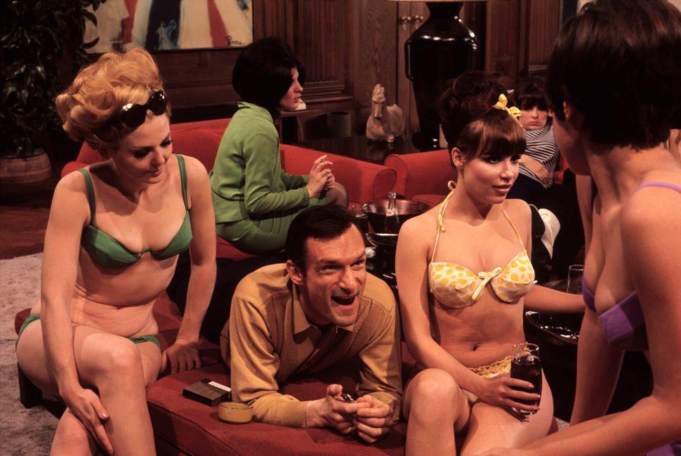 "Burt Glinn, ""Playboy founder, Hugh Hefner, at his mansion,"" Chicago, IL., USA, 1966"