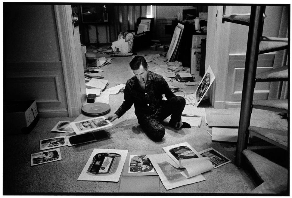 """Burt Glinn, """"Playboy founder, Hugh Hefner,"""" Chicago, IL., USA. 1966."""